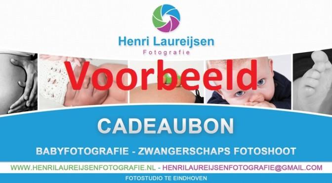 Cadeaubon zwangerschapsshoot babyfotografie